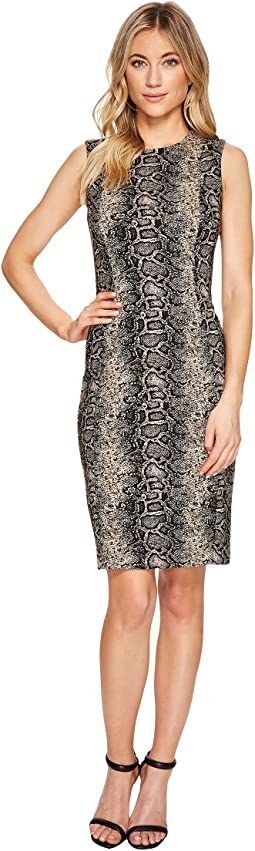 Calvin Klein - Snake Print Sheath Dress CD7EDA00