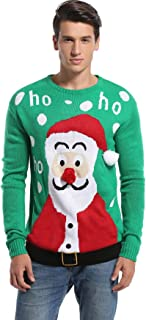 *daisysboutique*** Men's Christmas Holiday Santa Sweater Cute Ugly Pullover