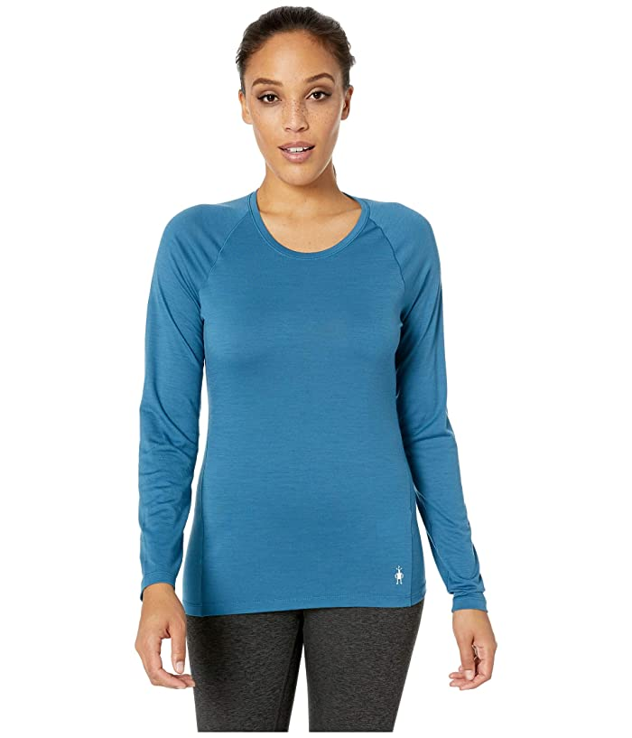 Smartwool Merino 150 Baselayer Long Sleeve (Light Marlin Blue) Women