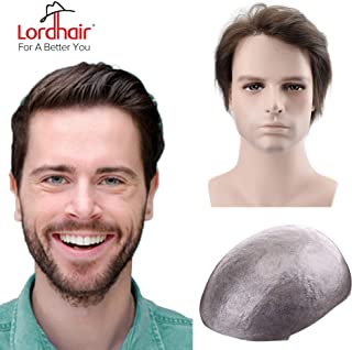 Lordhair Mens Toupee Brown Super Thin Skin Hair System Color 2 (6 Colors Available)