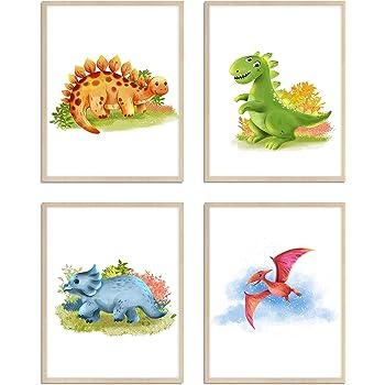 Tolles Geschenk f/ür Babyparty Poster f/ür das Kinder- und Babyzimmer Liebevoll gestaltetes 4er Set Poster f/ür Kinder in A4 Donari M/ädchen