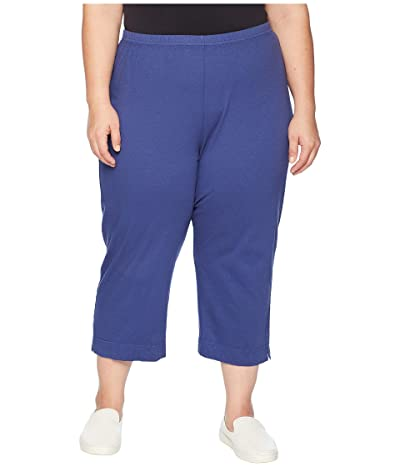 Fresh Produce Plus Size Jersey Capri Pants (Moonlight Blue) Women