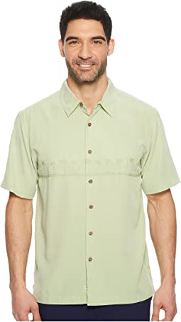 Tahiti Palms 4 Traditional Polynosic Woven Top