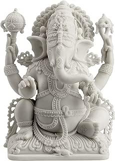 JFSM INC. Rare Ganesh Lord of Prosperity & Fortune Statue White Finish