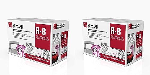 lowest Owens lowest Corning Garage 22 in. popular W x 54 in. L R-8 Faced Fiberglass Garage Door Insulation Kit Roll outlet sale