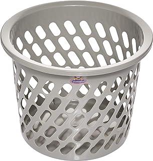 Cosmoplast Plastic Mini Laundry Basket, Grey, 45L, IFHHLA355G6