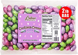 R.M. Palmer Cookies & Creme Easter Eggs | Individually Wrapped Treats | Fun Sized Egg Shaped Easter Candies | Perfect For ...