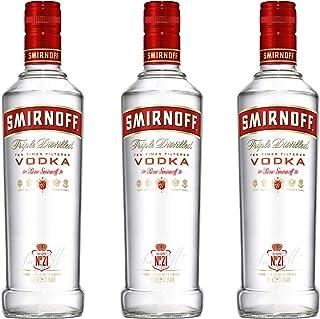 Smirnoff Red No. 21 Premium Vodka Triple Destilled, 3er, Wodka, Alkohol, Alkoholgetränk, Flasche, 37.5%, 500 ml, 713197