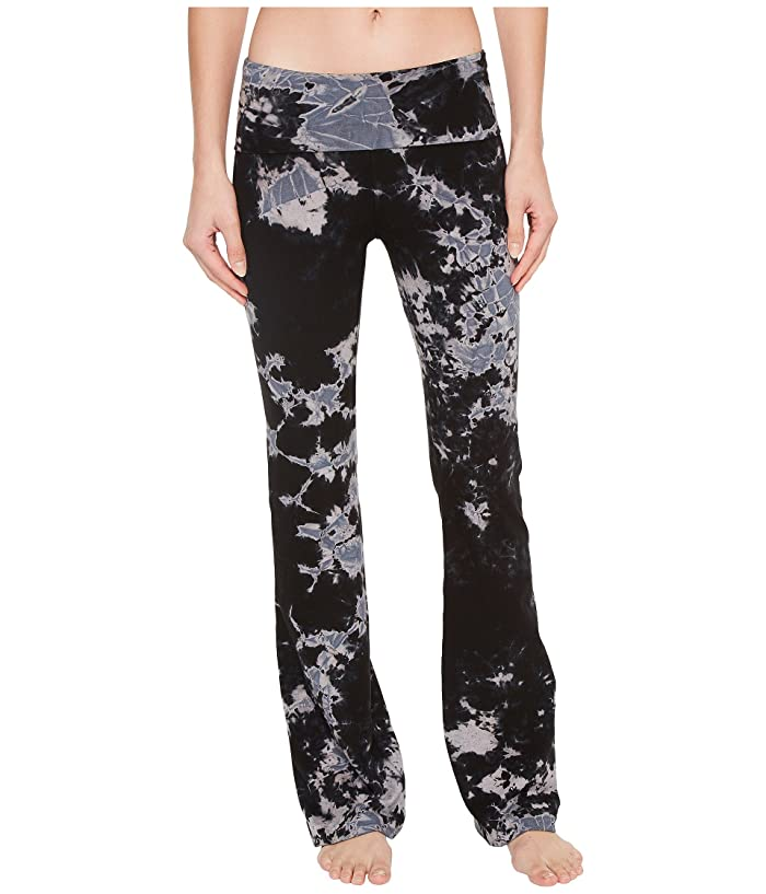 Hard Tail Rolldown Bootleg Flare Pants (Two Color Iceberg) Women