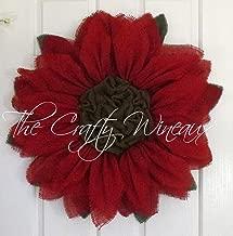 Burlap Poinsettia Wreath by The Crafty Wineaux™