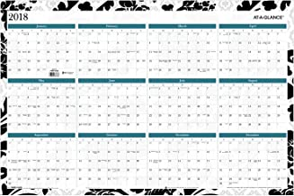 AT-A-GLANCE Yearly Calendar, July 2018 - June 2019 / January 2018 - December 2018, 24