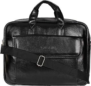 KETSAAL Office Bag | Sling Bag | Passport Pouch | Messenger Bag for Men & Women | (Black 37 cm x 7 cm x 27 cm)