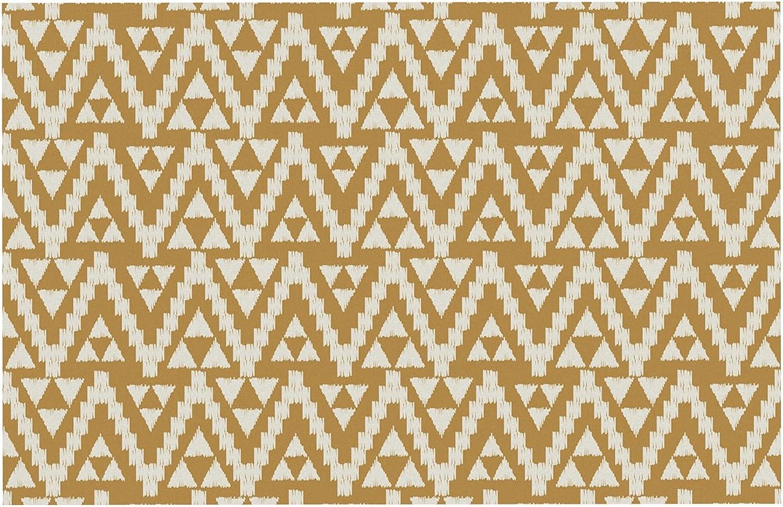 KESS InHouse AL1028BDM02 Amanda Lane Geo Tribal Mustard Yellow Aztec Dog Place Mat, 24 x15