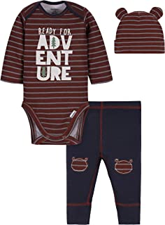 Gerber Baby-Boys 3-Piece Bodysuit, Pant and Cap Set Layette Set