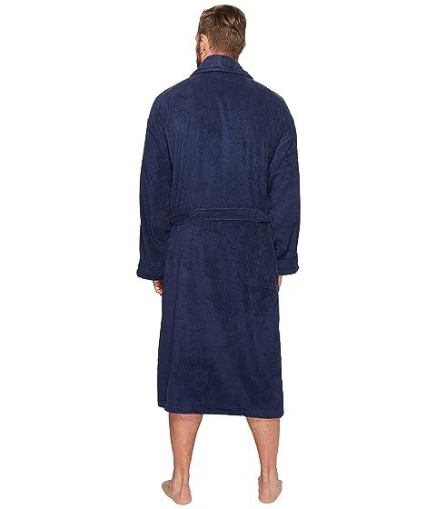 Gran Navy Velour Robe Polo Cruise Ralph Kimono Lauren qPvtR0E