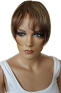 PRETTYSHOP 100% Real Human Hair Clip in Bang Fringe Extensions Hairpiece Div. Colors H313p