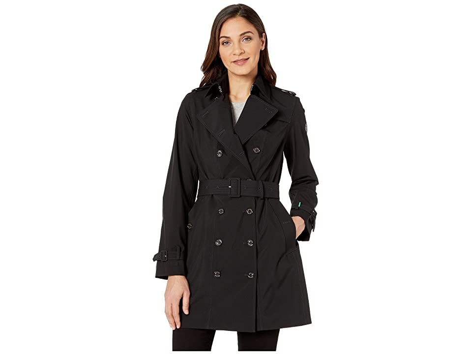 Save the Duck Grin Double Breasted Rain Coat (Black) Women