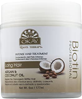 Roots Therapy® Biotin, Argan & Coconut Professional Intense hair Treatment| Moisturizes Damaged, Dehydrated Hair| Improves...