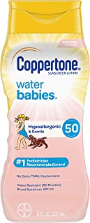 Coppertone WaterBabies Sunscreen Lotion Broad Spectrum SPF 50 (8 Fluid Ounce) (Packaging may vary)