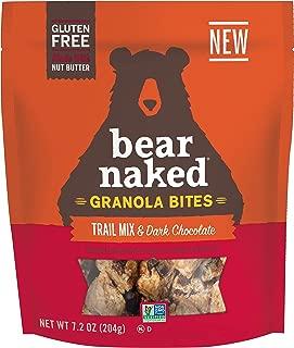 Bear Naked Trail Mix & Dark Chocolate Granola Bites - Gluten Free, Non-GMO, Kosher, Vegan - 7.2 Ounce (6 Count)