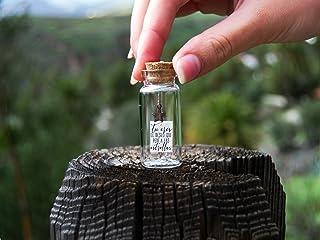 Tu eres el deseo que pedí a las estrellas. Mensaje en una botella. Miniaturas. Regalo personalizado. Divertida postal amistad