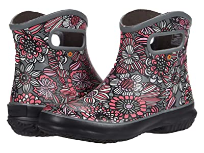 Bogs Patch Ankle Boot Bright Garden (Gray Multi) Women