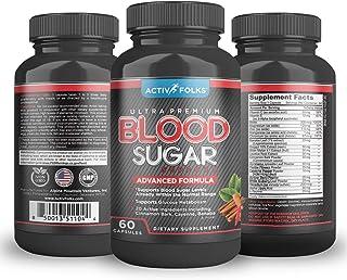 Activ Folks Blood Sugar Support Supplements w/Cinnamon, Bitter Melon, Chromium, Alpha Lipoic Acid (ALA) Plus Potent Vitami...