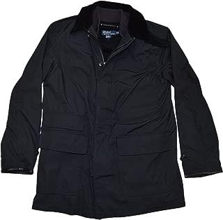 Ralph Lauren Polo Hooded Coat Jacket Vest Cashmere Wool Corduroy Black Medium