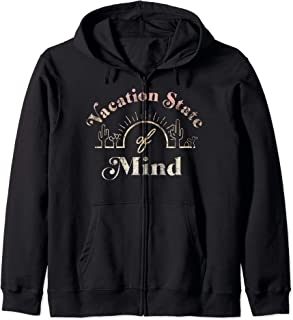 Vacation State Of Mind Desert Sunset Sketch Zip Hoodie