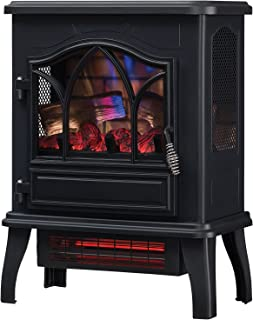 Duraflame DFI-470-04 Infrared Quartz Fireplace Stove, Black