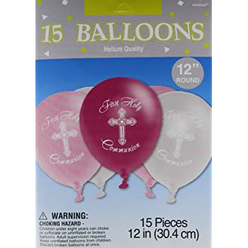 Amscan First Holy Communion Printed Latex Balloons Party Decoration 118695.06 15 Ct