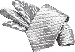 日本製 ネクタイ フォーマル シルバー系ネクタイ&ポケットチーフセット 礼装 シルク100% 結婚式/披露宴[ゼロスタイルクラバット]