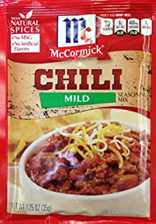 McCormick MILD CHILI Seasoning Mix 1.25oz (5 Packets)