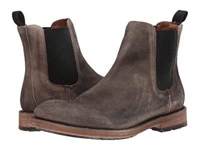 Frye Bowery Chelsea (Faded Black Distressed Suede) Men