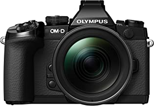Olympus OM-D EM-1 Compact System Camera (16.3MP, Live MOS, M.Zuiko 12-40 mm Lens) 3 Inch Tiltable Touch Screen LCD, Black