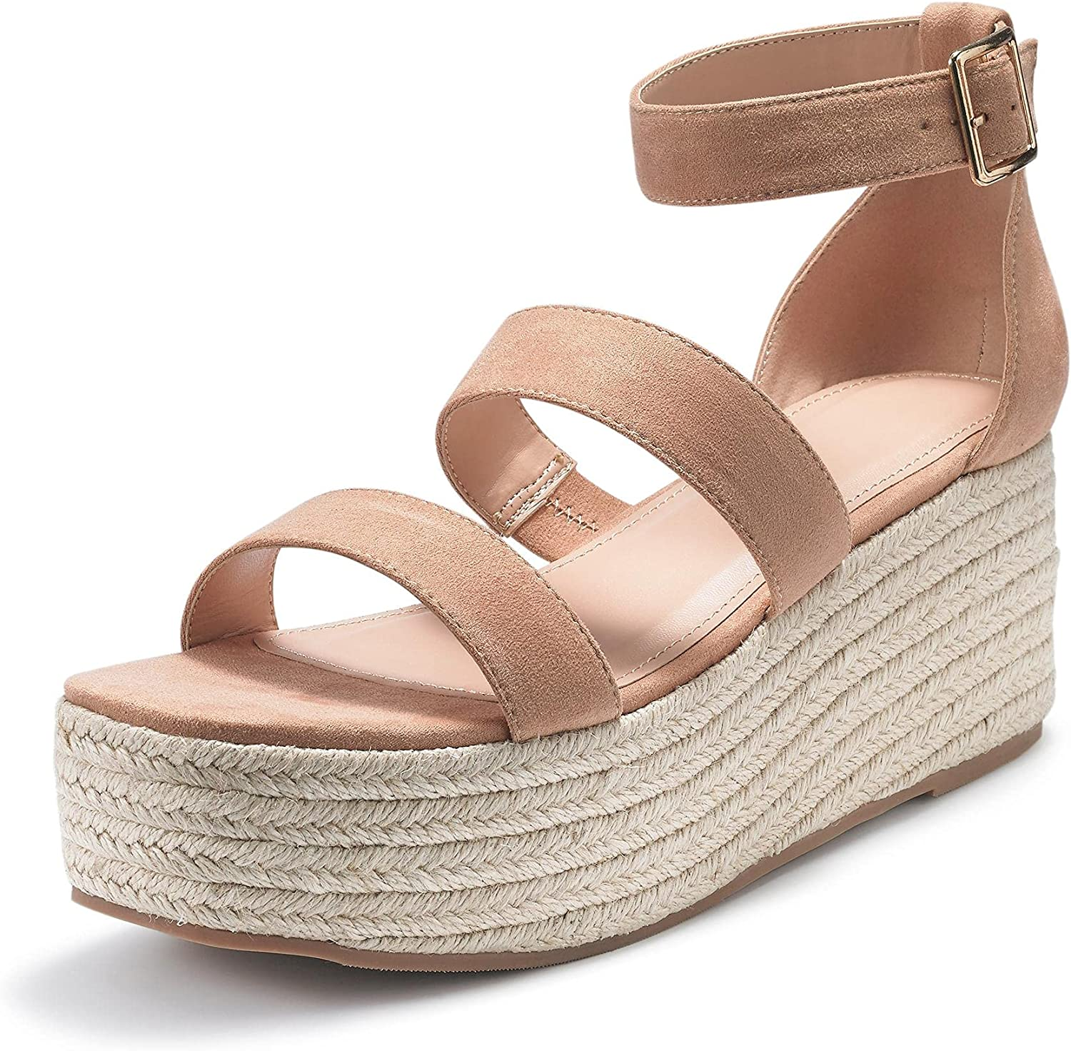Liyuandian Sale price Womens Open Toe OFFicial mail order Espadrille Ankle Up Strap Boho Lace R