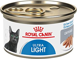 Royal Canin Feline Care Nutrition Ultra Light Loaf In Sauce Canned Cat Food, 3 oz Can (Case of 24)