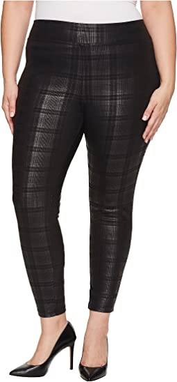 HUE - Plus Size Plaid Foil Leggings