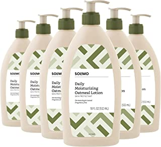 Amazon Brand - Solimo Daily Moisturizing Oatmeal Lotion, Fragrance Free, 18 Fluid Ounce (Pack of 6)