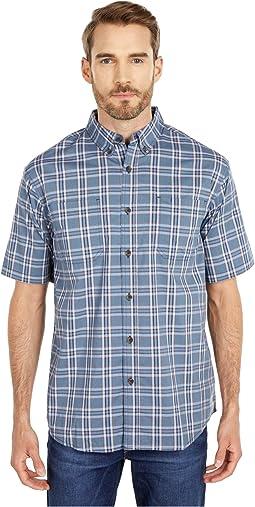 Relaxed Fit Flex Short Sleeve Plaid Shirt