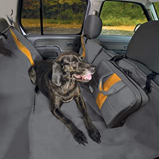 Kurgo Dog Hammock Car Seat Cover for Pets | Pet Seat Cover | Car Hammocks for Dogs | Water-Resistant | Wander | Heather | Journey | Half | Coast to Coast | Cars, Trucks, SUVs | Black | Grey | Khaki