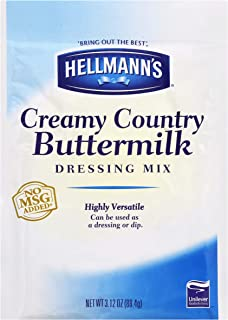 Hellmann's Creamy Country Buttermilk Ranch Dressing Dry Mix Pouch No Added Msg, 0g Trans Fat, 3.12 Oz, Pack Of 18