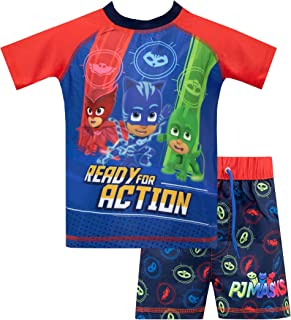 PJ Masks Boys Catboy Owlette Gecko Swim Set