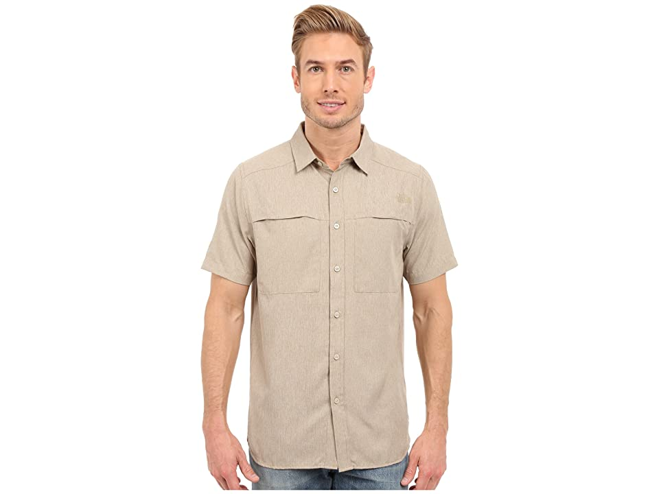 The North Face Short Sleeve Traverse Shirt (Dune Beige Heather (Prior Season)) Men