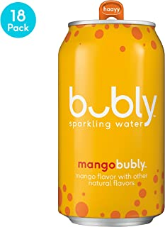 bubly Sparkling Water, Mango, 12 Fluid Ounces cans,  (18 Pack)