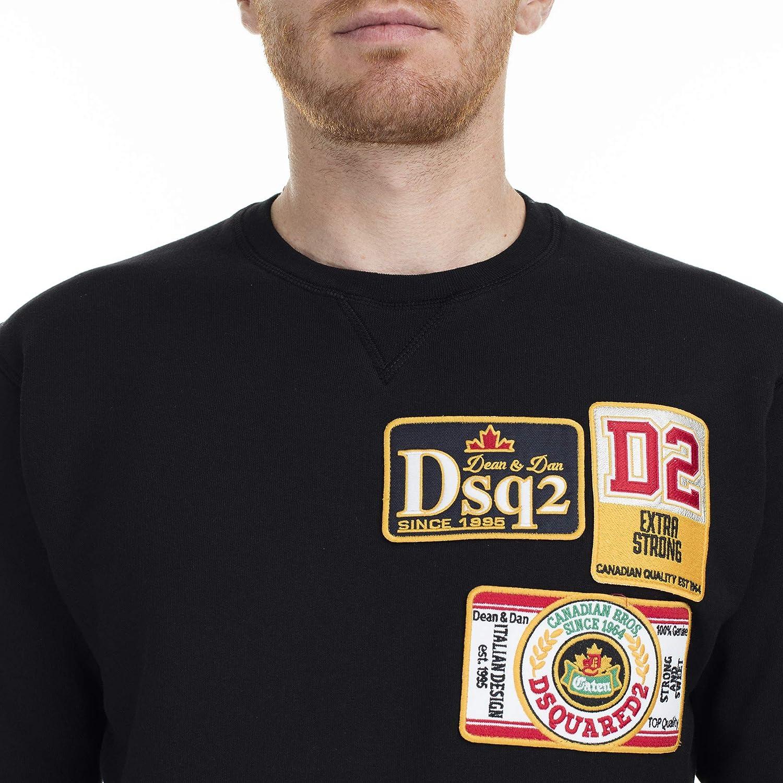 Dsquared2 Badge Patch Sweat-Shirt Noir