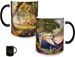 Disney Morphing Mugs Beauty and the Beast Picnic Painting Heat Reveal Ceramic Coffee Mug Thomas Kinkade- 11 Ounces