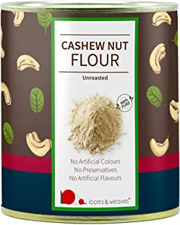 looms & weaves - Premium Raw Cashew Flour - Gluten-Free, & Grain-Free, Vegan, Paleo-Friendly & Unroasted- 250 gm