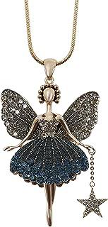 MOONSTONE Women's Fashion Pendant Magical Pixie Fairy Ballerina Long Chain