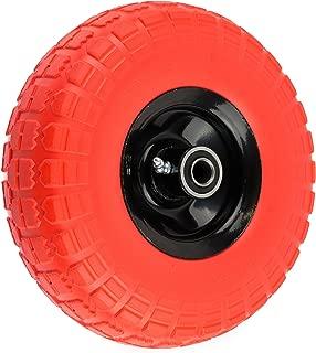 NK WFFOR10 Heavy Duty Solid Rubber Flat Free Tubeless Hand Truck/Utility Tire Wheel, 4.10/3.50-4